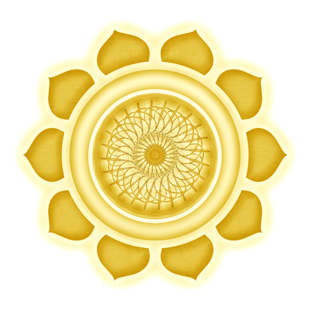 Manipura Chakra isolated Stock Photo - 25310995