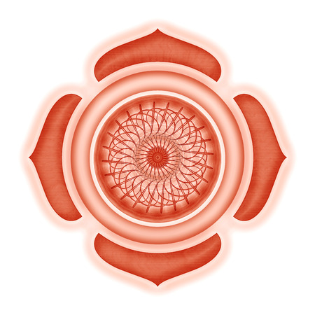 muladhara: Muladhara Chakra isolated Stock Photo