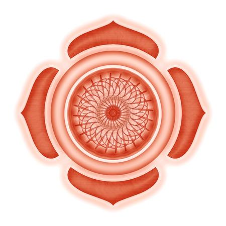 Muladhara Chakra isolated Standard-Bild