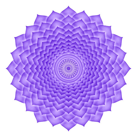 Crown Chakra isolated photo
