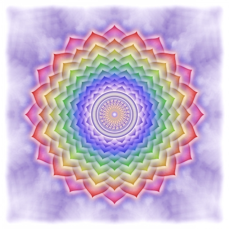 Crown Chakra Rainbow Colors photo