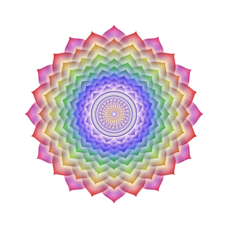 spirituality therapy: Crown Chakra Rainbow colors isolated