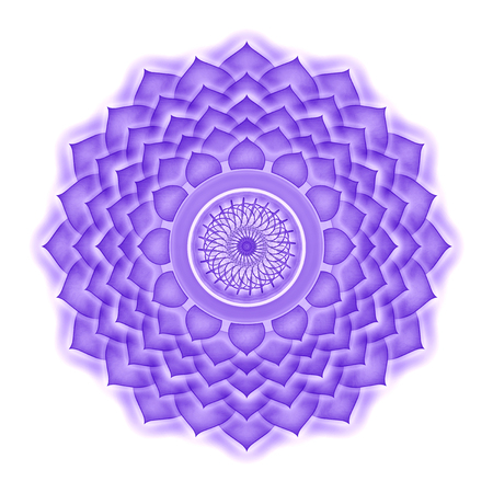 spirituality therapy: Crown Chakra isolated