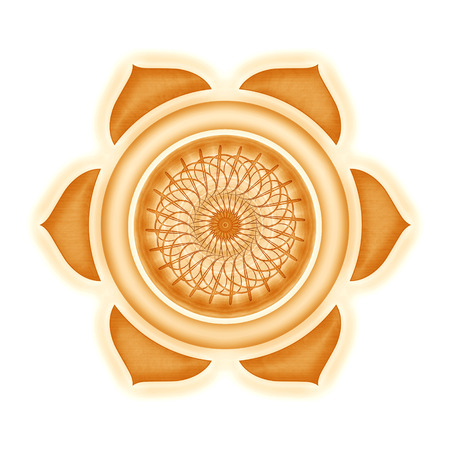 kundalini: Svadhisthana Chakra isolated Stock Photo