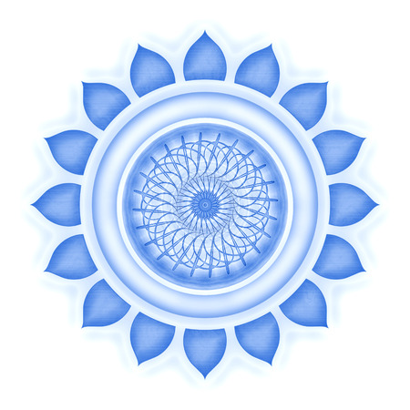 Vishuddha Chakra isolated Stock Photo - 25310998