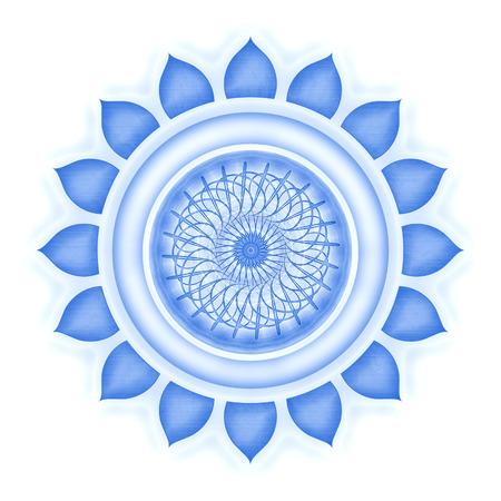 Vishuddha Chakra isolated Standard-Bild
