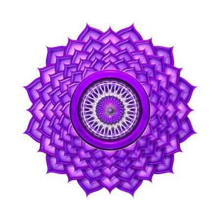 kundalini: Crown Chakra Stock Photo