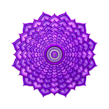 Crown Chakra isolated Stock Photo - 25311002