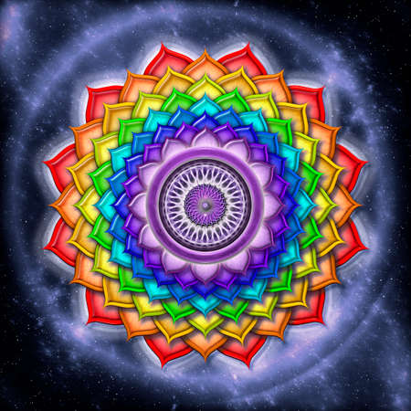Crown Chakra Rainbow Colors Stock Photo - 25311003