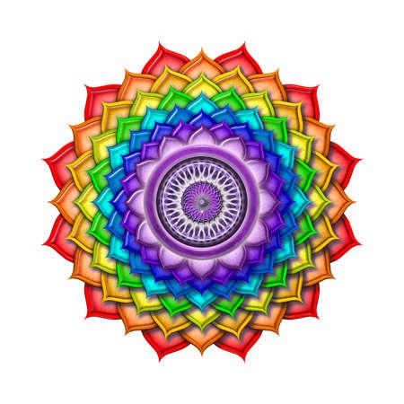 kundalini: Colori Chakra della Corona arcobaleno isolato