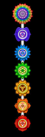 The Seven Main Chakras Stock Photo - 25311004