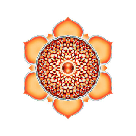 sacral: Sacral of Chakra Mandala Stock Photo