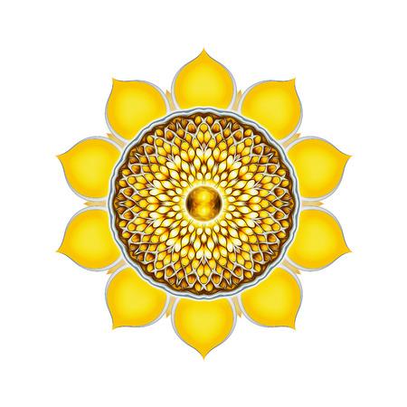 kundalini: Chakra del Plesso Solare Mandala Archivio Fotografico
