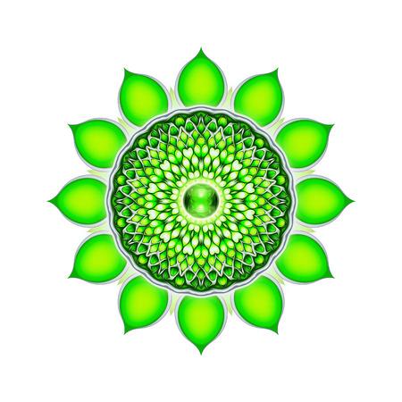Heart Chakra Mandala Standard-Bild