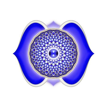 Brow of Chakra Mandala Standard-Bild