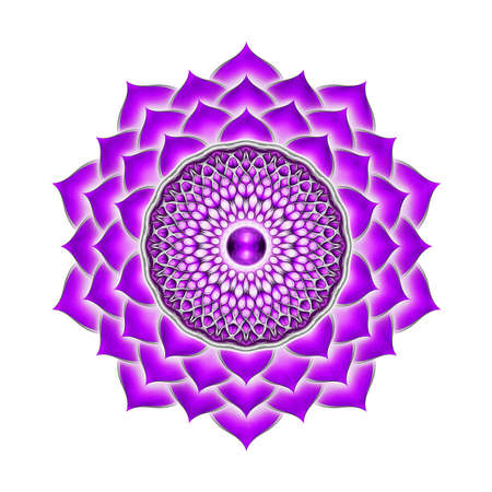 Crown of Chakra Mandala Stock Photo - 29425381