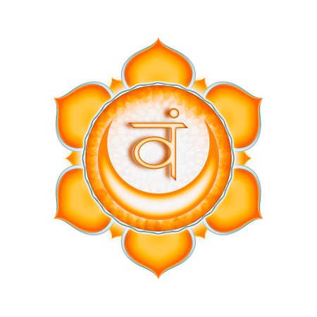 sacral: Het Sacraal Chakra Stockfoto