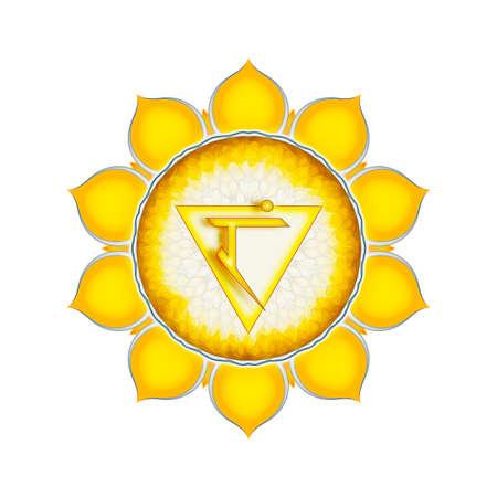 The Solar Plexus Chakra Stock Photo - 29428822