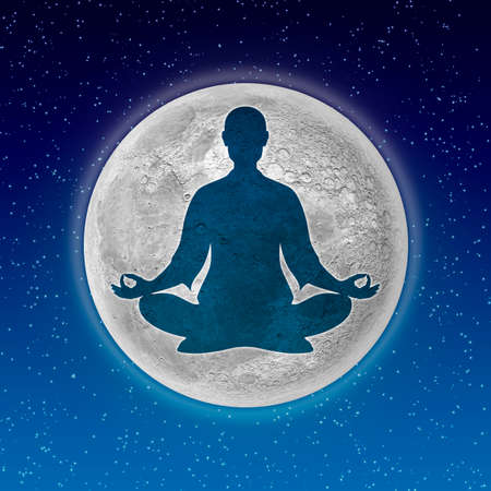 body Meditation And Moon