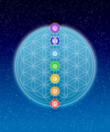 Chakras And Flower Of Live photo