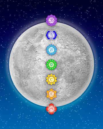 Chakras And Moon photo