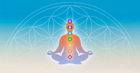 Body Meditation With Chakras photo