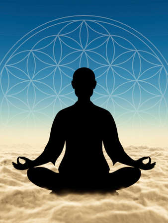 harmonizing: Body Meditation Stock Photo