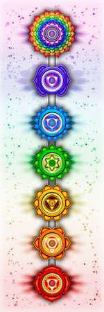 swadhisthana: Los siete Chakras Foto de archivo