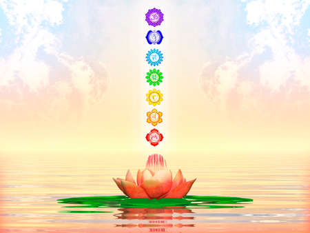 sacred lotus: Sacred Lotus And Chakras