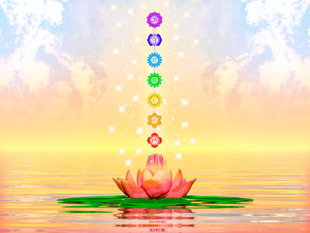 muladhara reiki: Sacred Lotus And Chakras