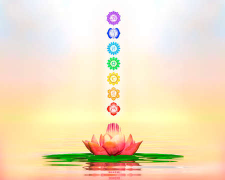 aura energy: Sacred Lotus And Chakras
