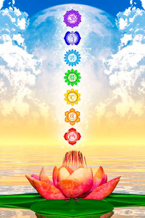 color healing: Sacred Lotus And Chakras