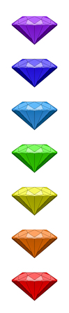 chakra: Chakra Rainbow Colors Diamonds