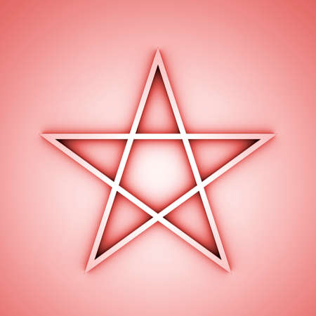 Pentagram red photo
