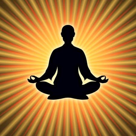 prana: In Meditation Stock Photo