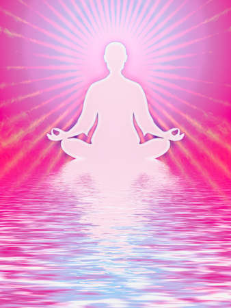 kundalini meditation: In Meditation Stock Photo