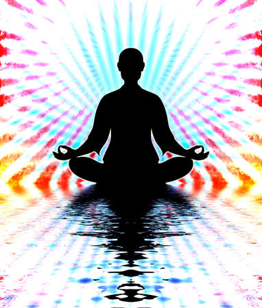 prana: In Meditation Stock Photo