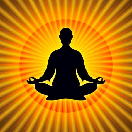 buddha lotus: In Meditation Stock Photo