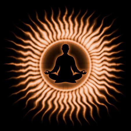 kundalini: In Meditation Stock Photo