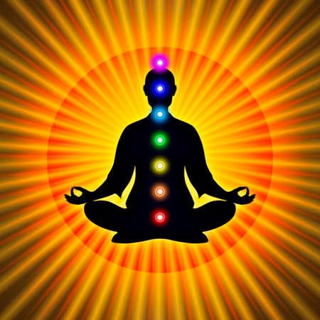 swadhisthana: En Meditaci�n Con Chakras Foto de archivo