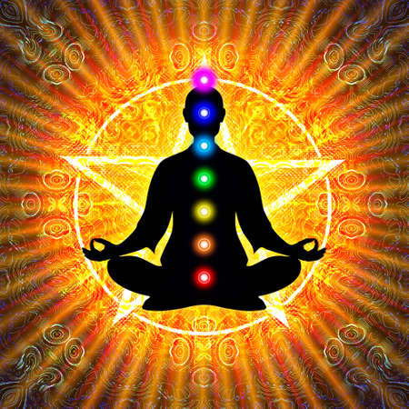 pentagram: In Meditation With Chakras