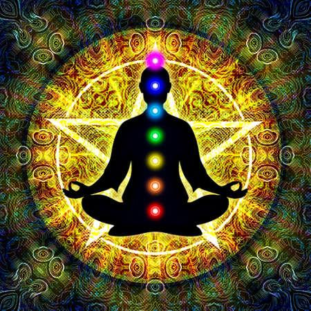 corpo umano: In meditazione con Chakra