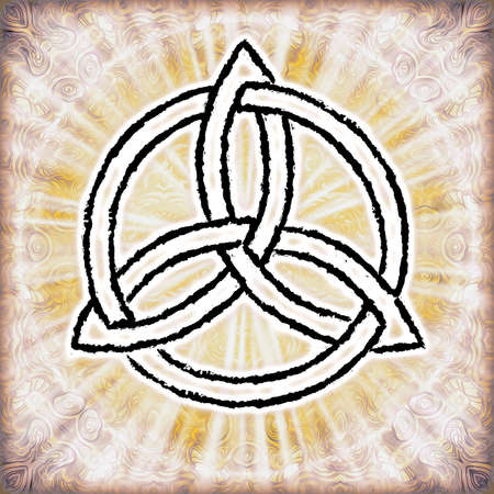 wicca: Triquetra Stock Photo