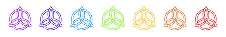 trinity: Triquetra Chakras Colors