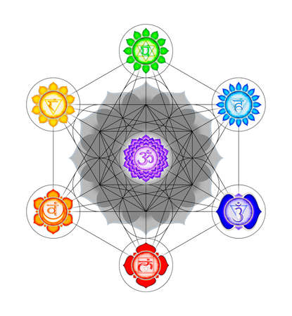 kundalini: Metatron`s Cube And Chakras