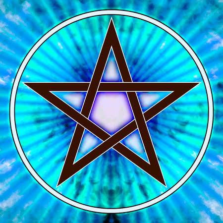 talismán: Pentagrama Foto de archivo