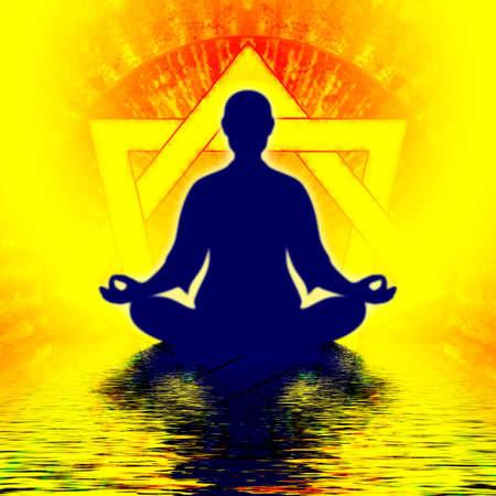 Heptagon Meditation Stock Photo