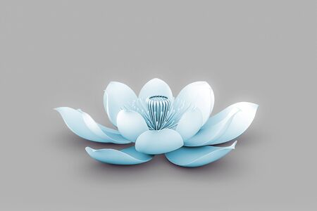 Lotus Flower In Chakra Color Blue