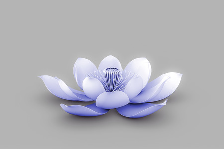 tantra: Lotus Flower In Chakra Color Indigo