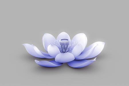 Lotus Flower In Chakra Color Indigo